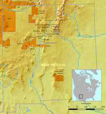 Native American Map List Of Indian Reservations In New Mexico Wikipedia