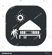 Hous Beach Hous Icon Stock Vector 288577241 Shutterstock