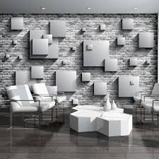 photo wallpaper 3d effect abstract squares wall mural 3443ve photo wallpaper 3d effect abstract squares wall mural 3443ve