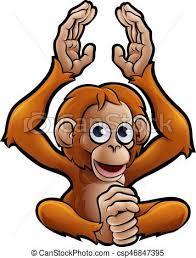 safari cartoon an orangutan safari animals cartoon character eps vectors search