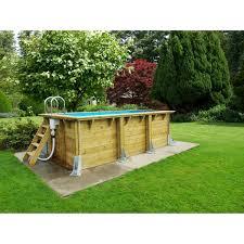 piscine hors sol bois urbanpool ubbink l 4 50 x l 2 50 x h 1 4 m