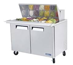 48 inch sandwich prep table used amazon com turbo air mst 48 18 refrigerated prep table 18 pan two