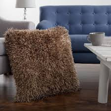 lavish home 21 in x 21 in mocha shag floor decorative pillow 66 lavish home 21 in x 21 in mocha shag floor decorative pillow