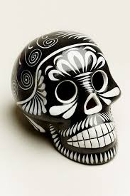 large black and white sugar skull earthbound trading co