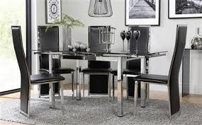 Black Glass Extending Dining Table Glass Dining Table Set Dining Room Cintascorner 48 Glass Dining