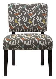 Armless Accent Chair Jofran Armless Accent Chair With Bird Motif Fabric Live