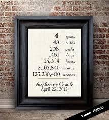 4th anniversary gift ideas for him 4th anniversary gift for linen anniversary gift gift