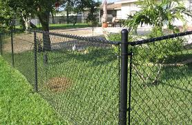 diy garden backyard landscaping chain link fence guide