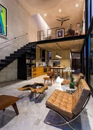 loft house design huge glass doors open mexican house to a courtyard garden studio