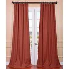 Rust Color Curtains Solid Rust Colored Door Curtain Available In Many Lengths