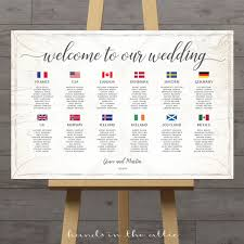 Conutry Flags World Seating Chart With Country Flags Printable Stationery