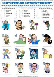 illnesses matching worksheets http www kids pages com folders