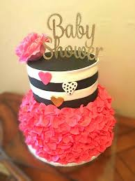 astounding pink and black baby shower cake 63 for baby shower