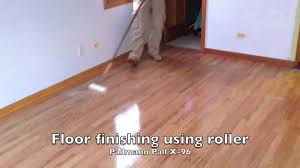 applying water based floor finish in naperville