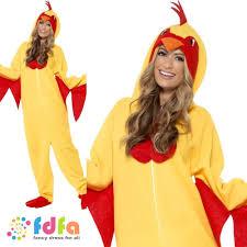 chicken halloween costumes funky chicken jumpsuit farm bird unisex mens ladies fancy