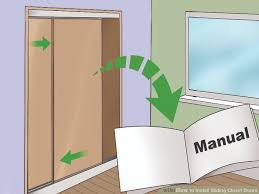 Replacing Sliding Closet Doors How To Install Sliding Closet Doors 13 Steps With Pictures