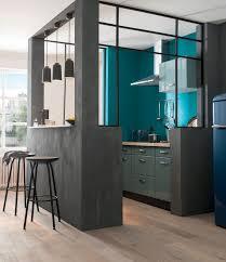 Meuble De Cuisine Noir by Indogate Com Cuisine Bleu Et Taupe
