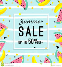 summer sale design template pattern with fruits banana