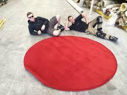 Round Red Rug Tedx Glasgow Custom Rug Gravity Flooring