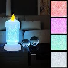 led tisch lampe glitter kerzen leuchte wohn zimmer deko