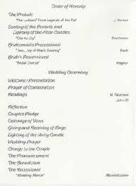 Wedding Reception Program Sample Jennifer Flook Jch8 On Pinterest