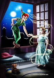 walt disney fan art peter pan tinker bell u0026 wendy darling