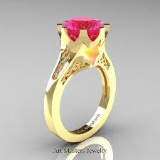 Gps Wedding Ring by Modern 14k Rose Gold 3 0 Carat Black Diamond Crown Solitaire