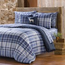 86 X 86 Comforter Northcrest Banded Plaid Comforter Set Shopko