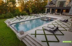 rectangle pools with grass decks the large pool deck in premium