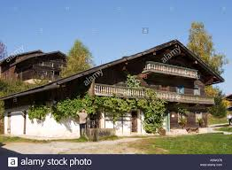 museum village bavarian forest in tittling germany stock photo