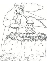 abraham and isaac coloring page wallpaper download