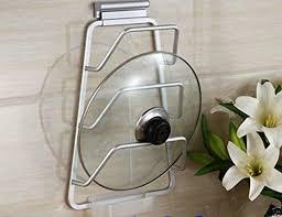Space Saver Kitchen Cabinets Alu Kitchen Space Saver Cabinet Door Pot Pan Lid Holder Rack