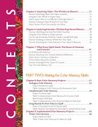 Pink Color Wheel by Color Mastery Table Of Contents Quilts And Creativity