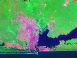 World Map Lagos by World Cities Satellite Images Landsat By Geology Com