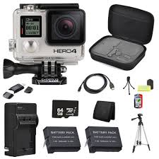 gopro hero 4 black friday gopro hero4 black edition camera 64gb bundle free shipping today