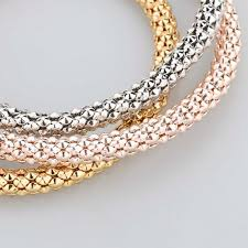 gold chain bracelet with charms images 3 pcs bracelet bangle fashion jewelry gold silver bracelets round jpg