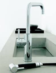 Brushed Nickel Faucet Kitchen by Brushed Nickel Italian Kitchen Faucet With Pull Out Side Sprayer