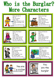 who is the burglar 30 conversation cards roleplay class and