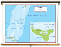 tonga map tonga physical educational wall map from academia maps