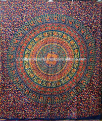 indian round beach towel tapestry home decor mandala tapestry