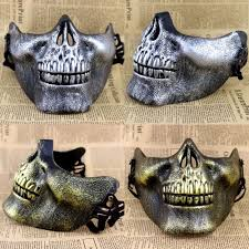 half skull mask halloween popular half skull mask buy cheap half skull mask lots from china