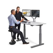 Stand Up And Sit Down Desk by Standing Workstation Electric Adjustable Height Desk