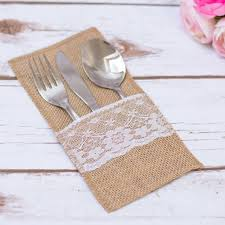 How To Set Silverware On Table Best 25 Burlap Silverware Holder Ideas On Pinterest Fall Table
