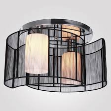 Flush Ceiling Light Fixtures Decor Drum Lampshade For Semi Flush Mount Lighting With Home