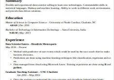 Data Scientist Resume Sample by Good Summary For A Resume Haadyaooverbayresort Com