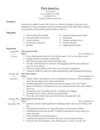 nanny duties resume sample nanny resume skills job resumes best examples for your