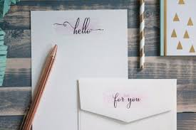 hello cute note letter writing set writing paper stationery