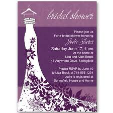bridal shower invites classic purple floral wedding dress bridal shower invitations