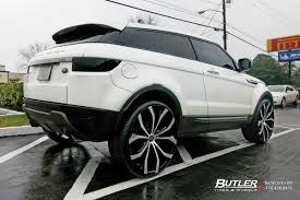 range rover custom wheels land rover evoque with 24in lexani lust wheels exclusively from