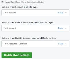 reset quickbooks online announcement quickbooks online trust sync clio help center